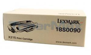 LEXMARK X215 TONER CARTRIDGE BLACK (18S0090)