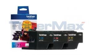 BROTHER MFC-J280W INK CARTRIDGE CMY VALUE PACK (LC-713PKS)