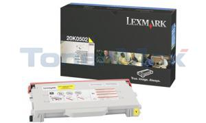 LEXMARK C510 TONER CART YELLOW 3K (20K0502)