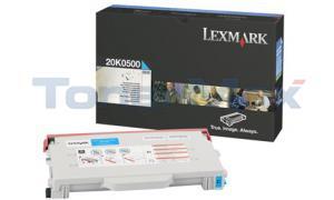 LEXMARK C510 TONER CART CYAN 3K (20K0500)