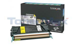 LEXMARK C524 TONER CARTRIDGE YELLOW RP (C5220YS)