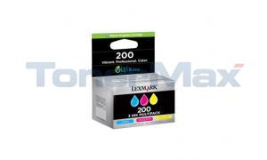 LEXMARK NO 200 RP INK CARTRIDGE CMY TRI-PACK (14L0268)