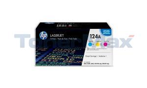 HP NO 124A CLJ-2600 PRINT CTG COLOR TRI-PACK (CE257A)