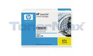HP LASERJET 4100 PRINT CARTRIDGE BLACK DUAL PACK (C8061D)