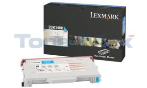 LEXMARK C510 TONER CART CYAN 6.6K (20K1400)