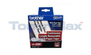 BROTHER P-TOUCH REMOV CONT TAPE 2-3/7IN X 100FT (DK-4205)