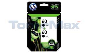 HP NO 60 INK CARTRIDGE BLACK TWIN PACK (CZ071FN)