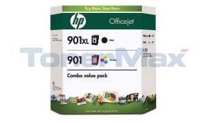 HP NO 901 901XL INK CARTRIDGE BLACK AND TRI-COLOR COMBO PACK (CD993BN)