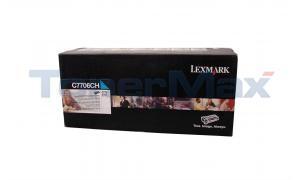 LEXMARK C770DN TONER CARTRIDGE CYAN RP HY TAA (C7706CH)