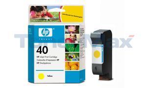 HP NO 40 INK CART YELLOW 42ML (51640Y)