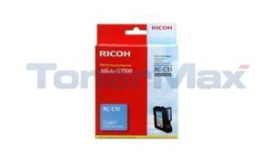 RICOH G7500 INKJET CARTRIDGE CYAN (405505)