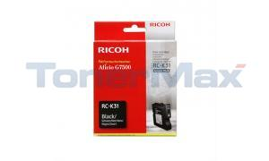 RICOH G7500 INKJET CARTRIDGE BLACK (405506)
