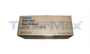 SAVIN 3725 3750 TYPE 116 TONER BLACK (9875)