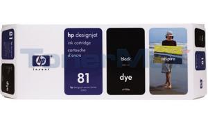 HP DESIGNJET 5000 NO 81 DYE INK CTG BLACK 680ML (C4930A)