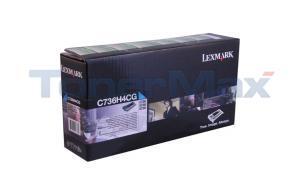 LEXMARK C736 TONER CART CYAN HY RP TAA (C736H4CG)