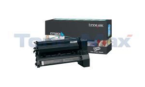LEXMARK C772 PRINT CART CYAN 15K (C7722CX)