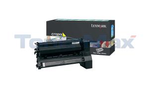 LEXMARK C772 PRINT CART YELLOW 15K (C7722YX)