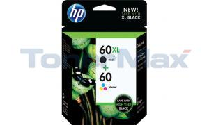 HP 60XL/60 INK BLACK/COLOR COMBO PACK (CZ137FN)