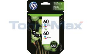 HP 60 INK TRI-COLOR TWIN PACK (CZ072FN)