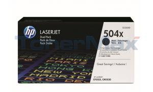 HP LJ 504X TONER CARTRIDGES BLACK DUAL PACK (CE250XD)