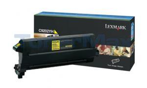 LEXMARK C920 TONER CART YELLOW (C9202YH)