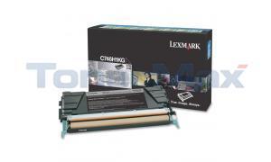 LEXMARK C746 TONER CARTRIDGE BLACK RP HY (C746H1KG)