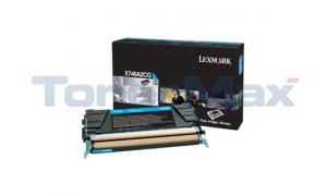 LEXMARK X746 TONER CARTRIDGE CYAN (X746A2CG)