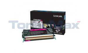 LEXMARK X746 TONER CARTRIDGE MAGENTA (X746A2MG)