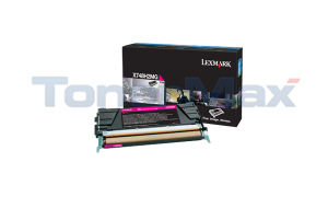 LEXMARK X748 TONER CARTRIDGE MAGENTA HY (X748H2MG)