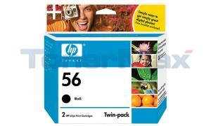 HP NO 56 PRINT CART BLACK TWIN-PACK (C9319BN#140)