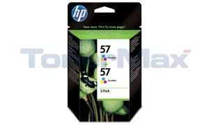 HP NO 57 INKJET CARTRIDGE TRI-COLOUR TWIN PACK (C9320BN)