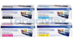 BROTHER HL-4150CDN TONER BUNDLE: BLACK, CYAN, MAGENTA, YELLOW (TN-315-BUNDLE-4-COLORS)