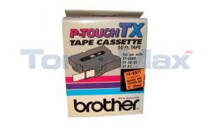 BROTHER P-TOUCH TAPE BLACK ON ORANGE RED (24 MM X 15 M) (TX-B511)
