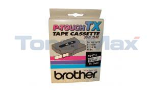 BROTHER TAPE CTG FOR PT8000 BLACK/CLEAR 3/8IN X 50 FT (TX-1211)