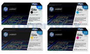 HP 124A PRINT CARTRIDGE BUNDLE PACK (BLACK, CYAN, MAGENTA, YELLOW) (124A-BUNDLE)