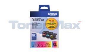 BROTHER MFC-J4610DW INK CART CMY HY TRI-PACK (LC-1033PKS)
