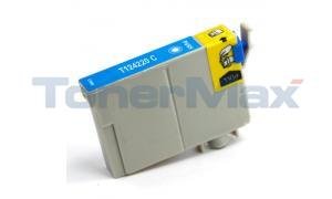 Compatible for EPSON STYLUS NX125 MODERATE-USE INK CARTRIDGE CYAN (T124220)