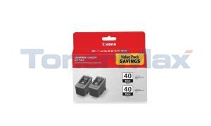 CANON IP1600 PG-40 TWIN PACK INK CTG BLACK (0615B013)