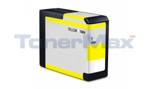 Compatible for EPSON STYLUS PRO 3800 ULTRACHROME INK CARTRIDGE YELLOW 80ML (T580400)