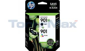 HP 901XL/901 INK CARTRIDGE BLACK/TRI-COLOR (CZ722FN)