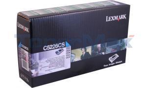 LEXMARK C522 RP TONER CART CYAN TAA (C5226CS)