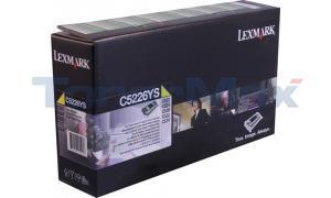 LEXMARK C522 RP TONER CART YELLOW TAA (C5226YS)