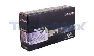 LEXMARK C524 RP TONER CART YELLOW HY GSA/TAA (C5246YH)