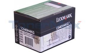 LEXMARK C54X TONER CART BLACK HY RP TAA (C540H4KG)