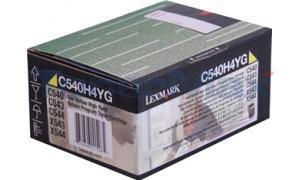LEXMARK C54X TONER CART YELLOW HY RP TAA (C540H4YG)