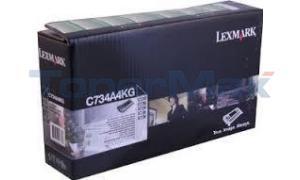 LEXMARK C734 TONER CARTRIDGE BLACK RP TAA (C734A4KG)