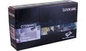 LEXMARK C736 TONER CART BLACK HY RP TAA (C736H4KG)