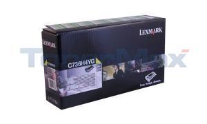 LEXMARK C736 TONER CART YELLOW HY RP TAA (C736H4YG)