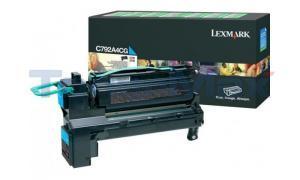 LEXMARK C792/X792 PRINT CART CYAN RP TAA (C792A4CG)