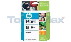 HP NO 15 INK CARTRIDGE BLACK TWIN PACK (C6645BN)